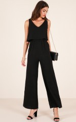 The leader jumpsuit in black