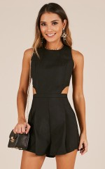 The Reader playsuit in black