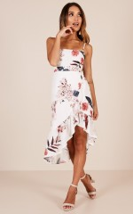 There You Are dress in white floral