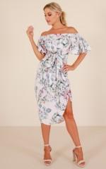 Think Bigger dress in blush floral