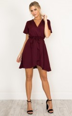 Love On Me dress in wine