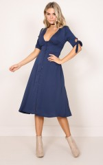 The Limelight dress in navy