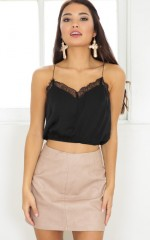 Eastern Dream crop top in black