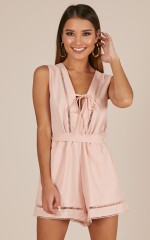 My Own Melody playsuit in blush