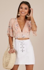 Live Sweetly top in blush floral