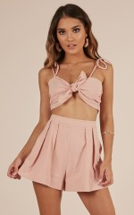 What I Need two piece set in blush linen look