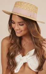 By The Harbour hat in natural and blush