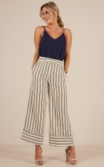 Memory Lane pants in beige stripe
