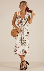 Just For Fun Jumpsuit in ivory floral