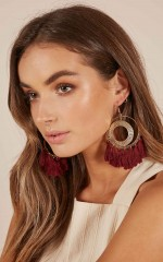Right The Wrong earrings in wine