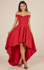 Minute To Midnight dress in red
