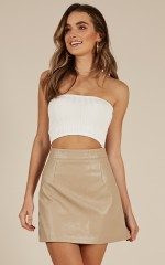 Sweet Touch crop top in white