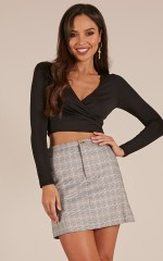 Sylvia Nights crop top in black