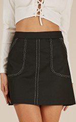 Want To See skirt in black