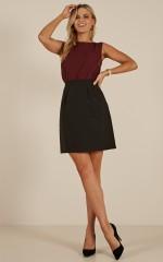 Crunch Time Skirt in Black