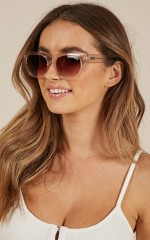 Quay - Something Extra sunglasses in clear and brown