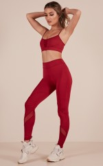 Rise And Grind Tights in Wine