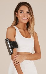 Workout Armband in black