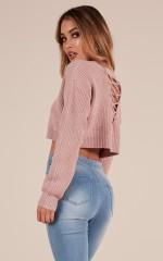 Shes A Riot Knit in Dusty Rose