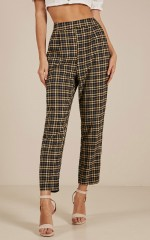 Only Better Days pants in black check