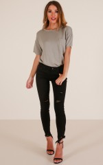 Natalee skinny jeans in black denim