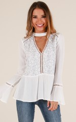 New Age top in white lace