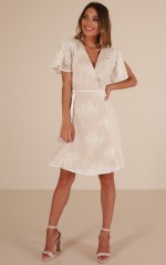 Dream Within dress in white lace