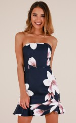 Something Like This dress in navy floral