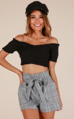 Away We Go crop top in black