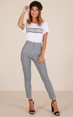 Only A Feeling pants in black gingham