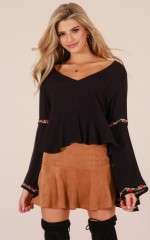 Ready For Love top in black