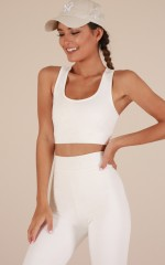 Push Through Crop Top in White