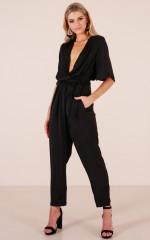 Under Wraps jumpsuit in black