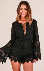 Divine Night playsuit in black