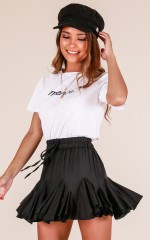 A Place For Us skirt in black