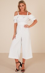 Land Of Dreams jumpsuit in white stripe
