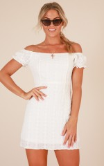 Put Together dress in white lace