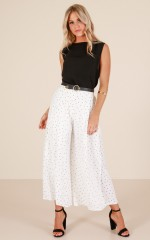 Poetic Dreams pants in white polkadot