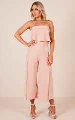 Paper Trail jumpsuit in blush
