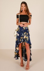 Bright Eyes skirt in navy floral