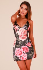 Just For Tonight dress in black floral