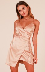 For The Girls dress in beige