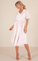 The Hustle Dress in Blush Stripe