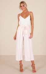 Boss Behaviour Pants in Blush Stripe