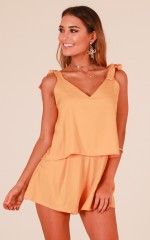 Out of Luck playsuit in mustard