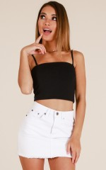 Love Runs Out crop top in black