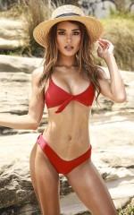 Maya Bikini Top in Poppy