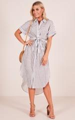 Sweet Sunday dress in black stripe