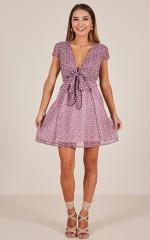 Wake Up Dreamer Dress in purple print