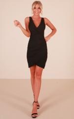 Conversation dress in  black